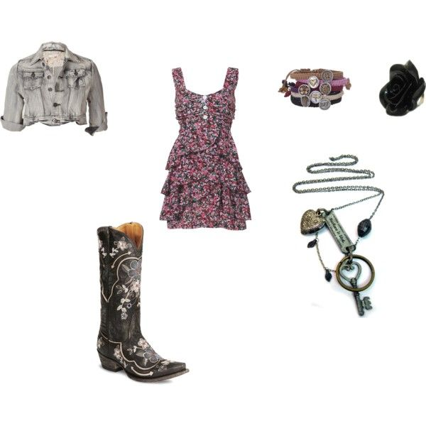cute country outfit-- been looking for a dress like this everywhere and need a short jean jacket