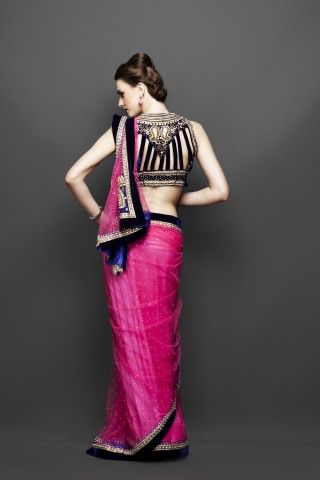 Hot Pink Net Sari @ Zarilane @Diana Avery Rose My saree for your wedding. Hint hint <3