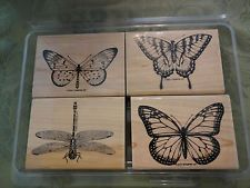 STAMPIN UP WONDERFUL WINGS BUTTERFLY RUBBER STAMPS