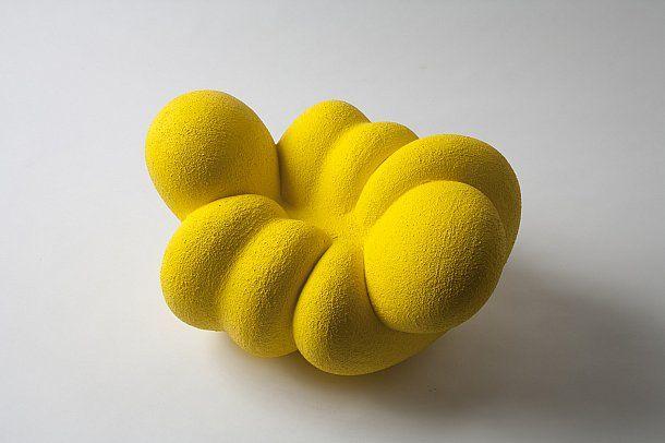 Senza titolo-ta8y, painted terracotta, 2011, Mariko Isozaki, 2011