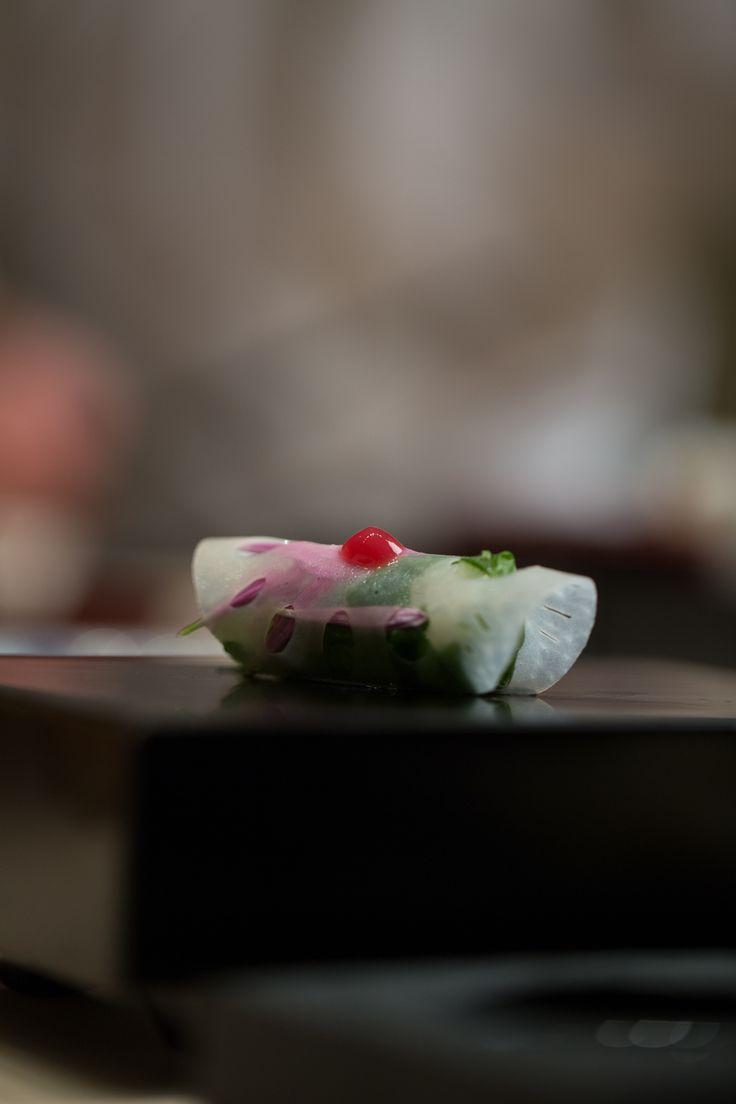 Chef Masa apprenticed under the direction of sushi master, Sugiyama Toshiaki, at Tokyo's well-respected Ginza Sushi-ko.
