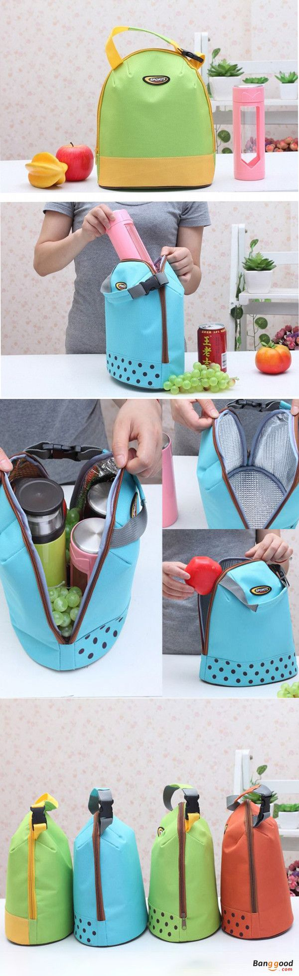 US$6.95 + Free shipping. Kitchen Ideas, Kitchen Decor, Travel Quotes, Camping Ideas, Travel Bags, Camping Picnic Bags. Color : Blue, Green, Yellow Green, Orange Red. Storage food and drink for cool or hot.