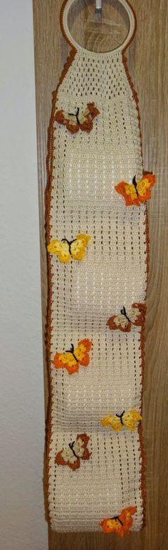 Resultado de imagen de como hacer colgadores papel higienico a crochet