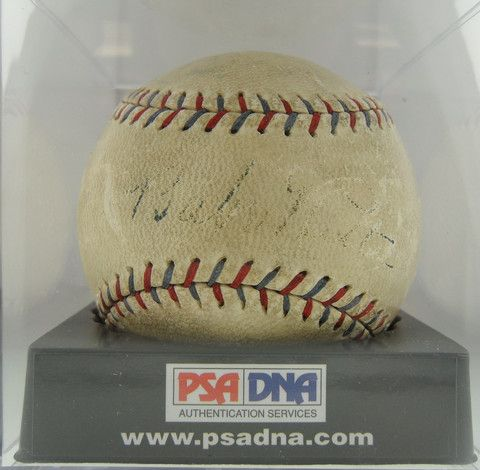Babe Ruth Autographed Baseball w/ COA