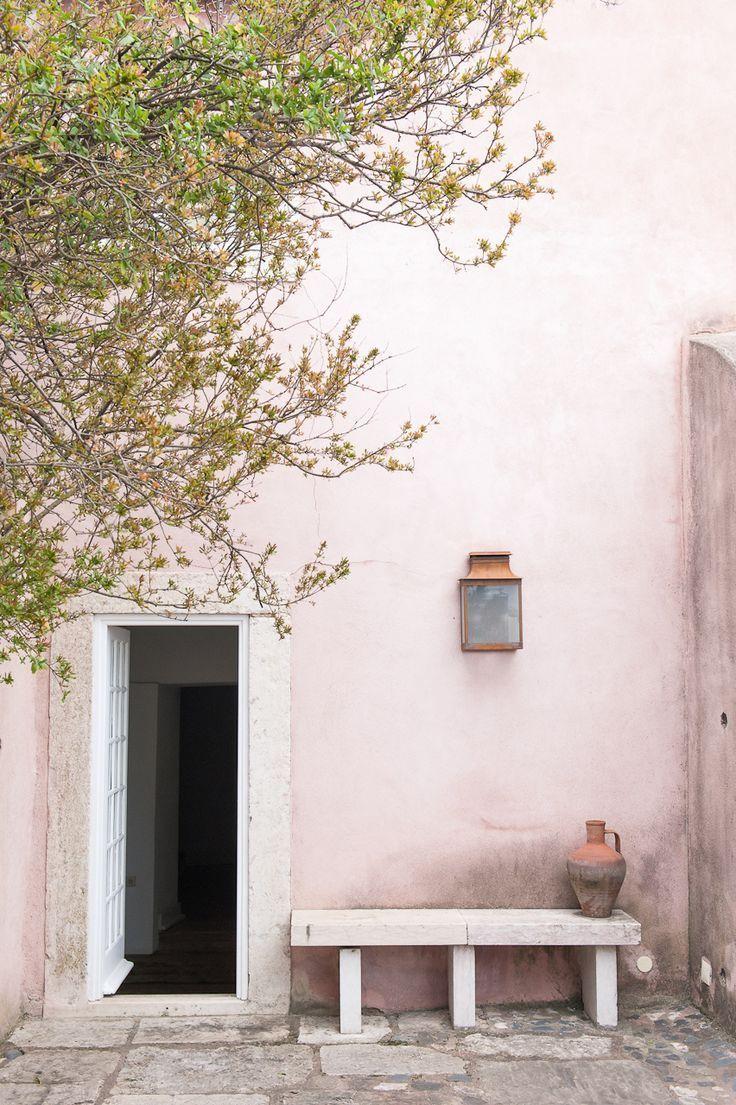 pink washed walls