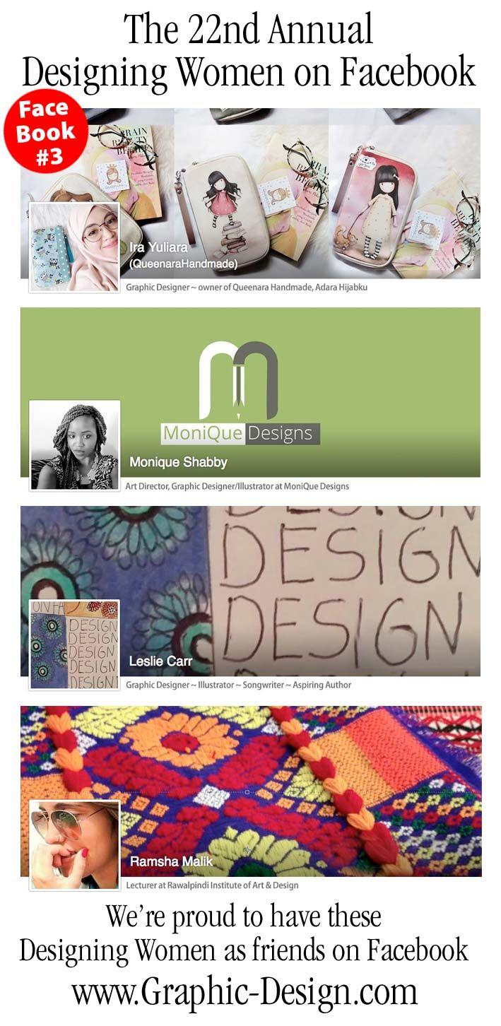 DT&G Designing Women Friends on Facebook #3 . . . 22 years of designing women in DT&G Magazine and The Design & Publishing Center ... please meet : ** Ira Yuliara ** Monique Shabby ** Leslie Carr and  ** Ramsha Malik ... lots of talent! We love you all!  Enjoy . . . #designingwomen #dtgfacebook #DT&G #dtgmagazine #designcenter #graphicdesign #inspiration #creativeinspiration #showker #60seconds #sixtyseconds