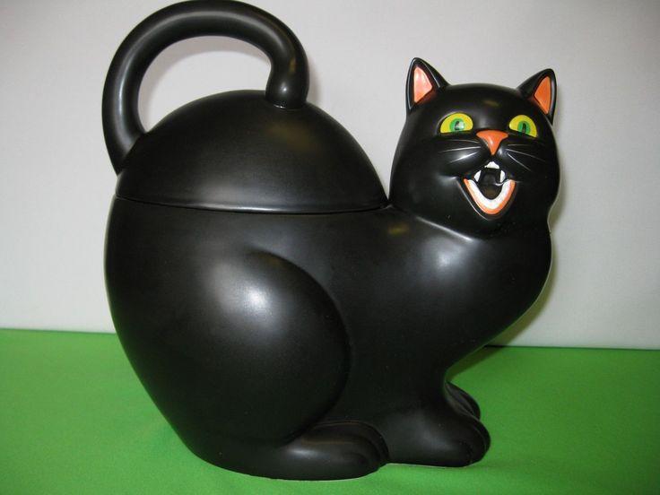 Department 56 Halloween Black Multicolor Cat Cookie Jar | eBay