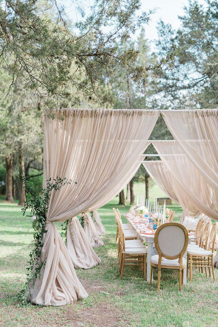 tented weddings - photo by Christy Wilson Photography http://ruffledblog.com/summer-castle-soiree-wedding-inspiration
