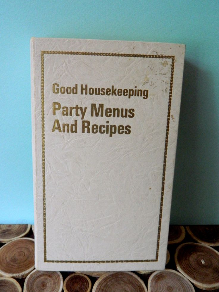 Good Housekeeping Party Menus and Recipes - Dorothy Marsh and Carol Brock - Atomic Midcentury Modern Vintage Cookbooks by 20thCKitchenAndTable on Etsy