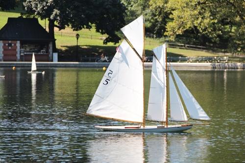 Vintage model yacht plans