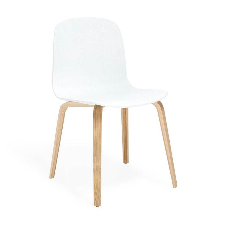 Muuto White Visu Chair - Wood Frame, oak & lacquered oak (abc)