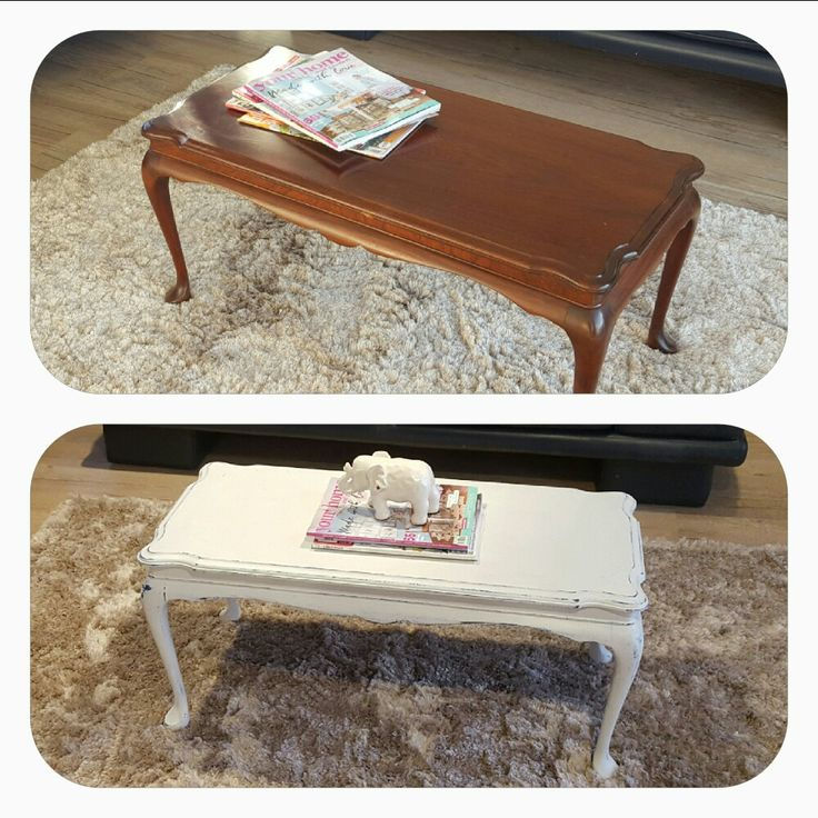 Coffee table painted.