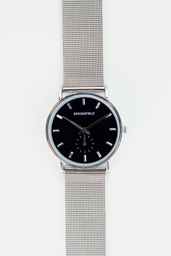 Springfield Reloj Correa Metálica gris mezcla