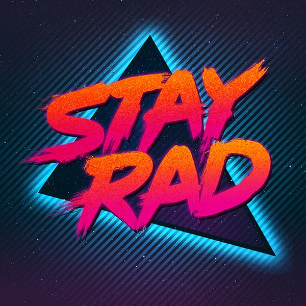 The Overdrive Series by James White, via Behance || typography 80s revival inspiration