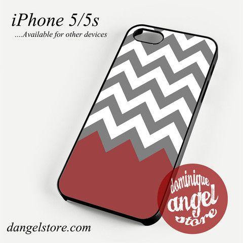 Grey White Red Tosca Chevron Phone case for iPhone 4/4s/5/5c/5s/6/6 plus