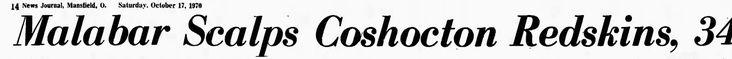 People Aren't Mascots: 1970, Oct 17th - newspaper headline