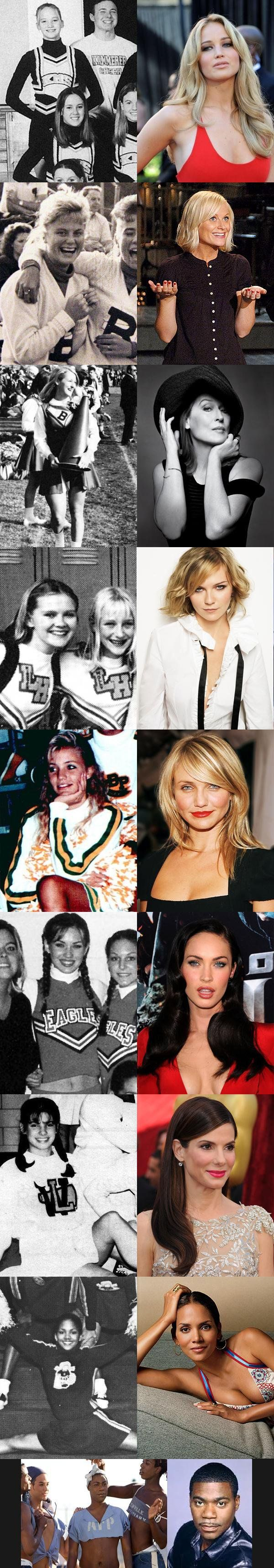 Famous people with origins in cheerleading