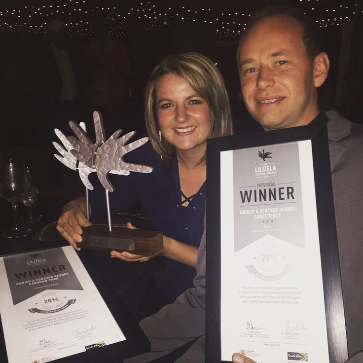 Last night at a grand event Gariep, A Forever Resort took three awards home at the Free State Provincial Lilizela Awards!!!  Winner MESE!! Winner Caravan and Camping!!! Winner Self Catering Shared Vacation!!!  We would like to congratulate Adriaan Harper and his Team on this amazing achievement!!  We are extremely proud 😀  Now for Nationals!!!  #GoTeam