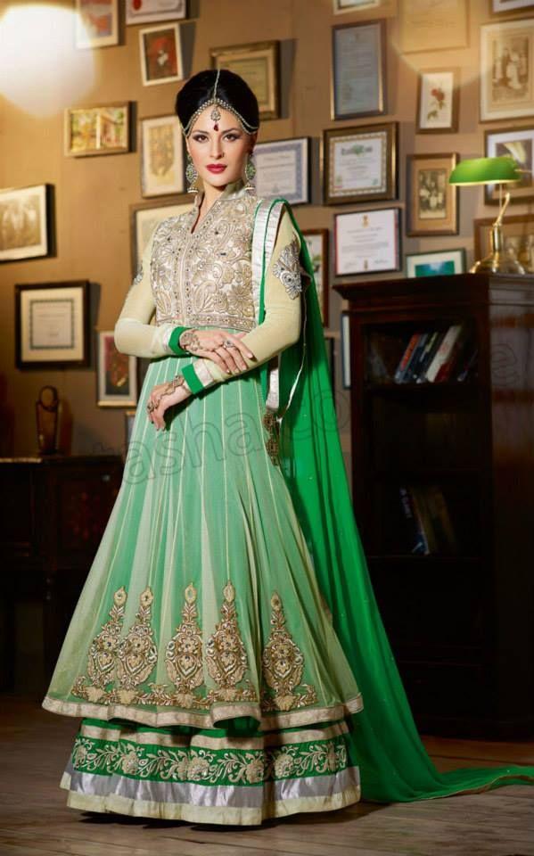 Natasha Couture Anarkali Lehenga Choli Collection 2014-15 For Women (9)