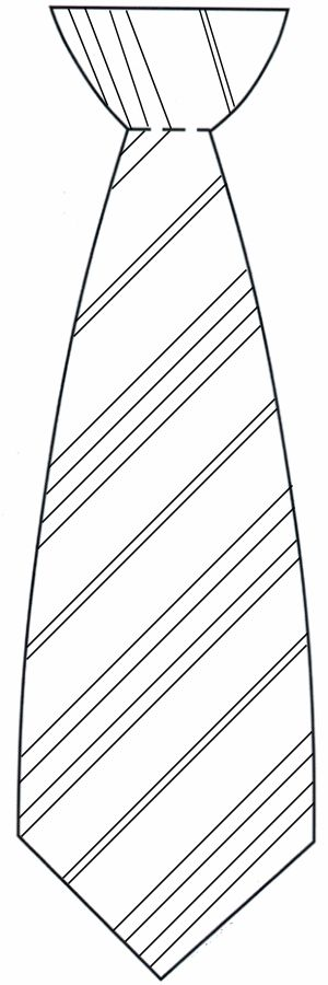 tie template to print | Back to Father's Day Tie  I could probably do this with Material and pin  get yellows and grays...