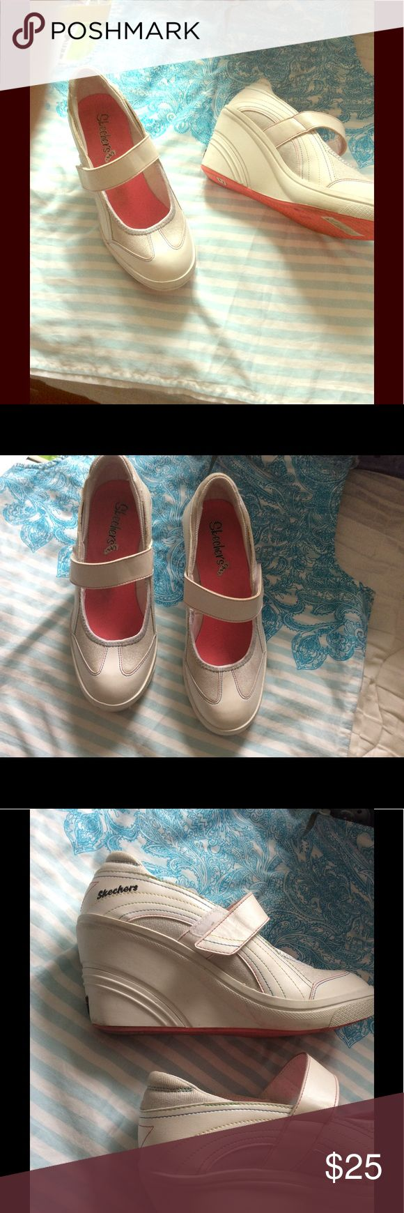 Sketchers model cali footwear Great condition wore only once.size 7.5 thin multicolor stripes over white. Skechers Shoes