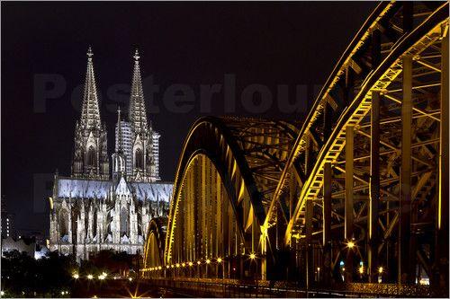 """Poster / Leinwandbild """"Hohenzollernbrücke"""""""
