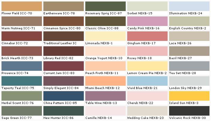 Behr Paint Colors Exterior Color Charts Paints