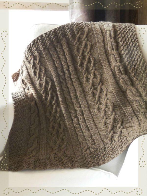 Les 15 meilleures id es de la cat gorie couvertures tricot es sur pinterest tricoter des - Tricot avec les bras couverture ...