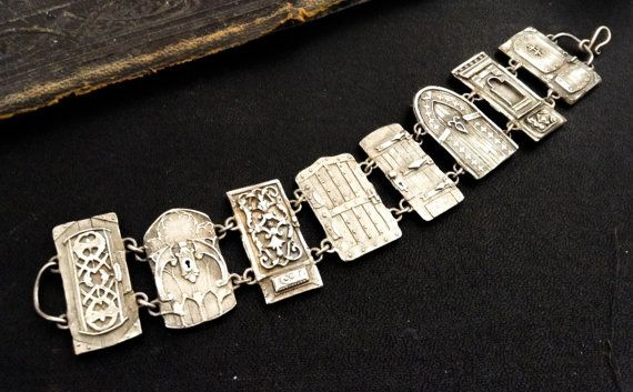 Sale Petite Door Panel Bracelet sterling silver by EAdornments