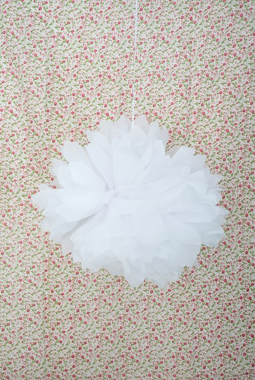 paper flower pom pom | enchanted fairies party | Jade Celebrations | party boxes | party in a box
