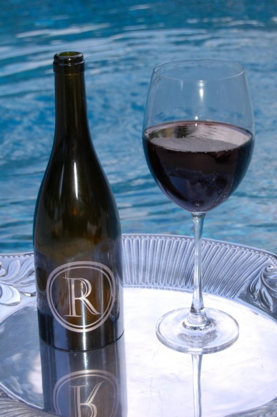 Personalized Wine Bottle Lantern in Castellar Font by WordCouture, $25.00