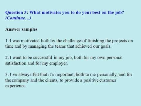 Sales clerk interview questions and answers