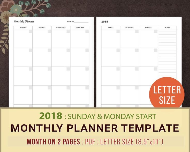 Best  Monthly Planner Template Ideas On   Budget
