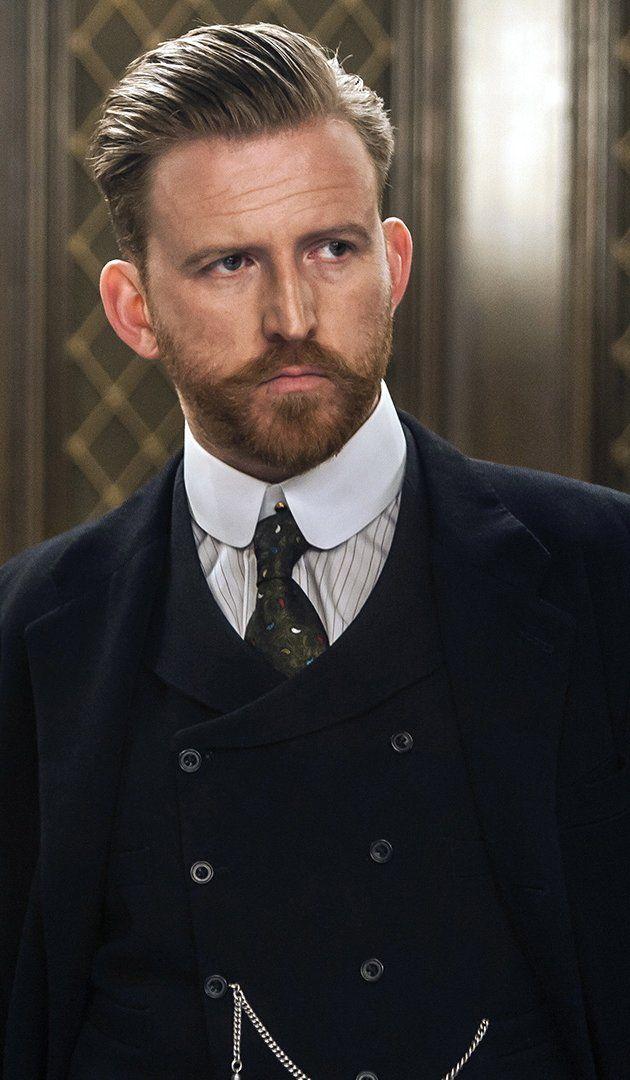 """TOM GOODMAN-HILL as Roger Groves in """"Mr. Selfridge"""""""