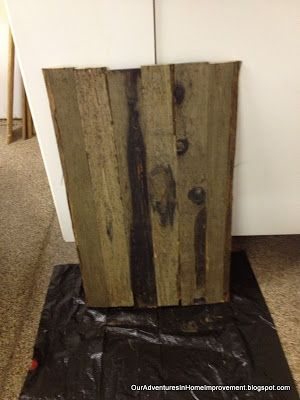 """Our Adventures in Home Improvement: Fat Tire Sign on """"Aged"""" Wood"""
