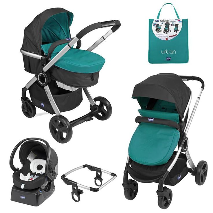 This Chicco Urban Travel System In The Colour Emerald Is