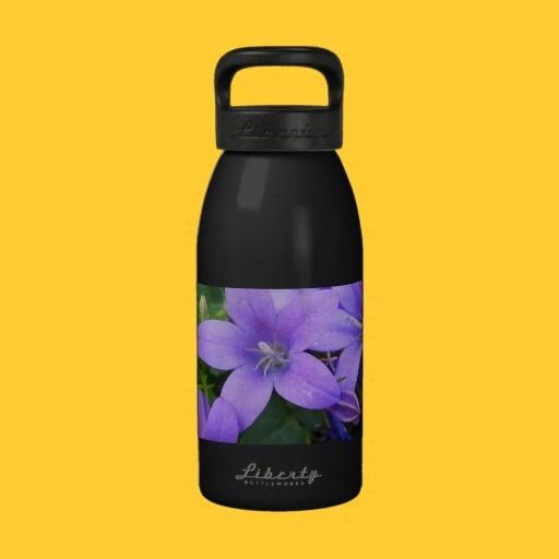 Purple Spring Flowers Liberty Bottle