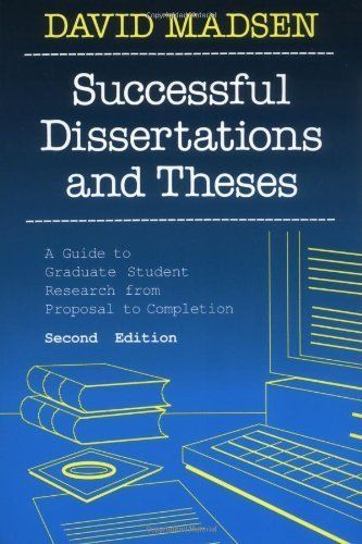 successful dissertations and theses Virtually every major research library in the world provides access to the proquest dissertations & theses (pqdt) database through one of several formats.