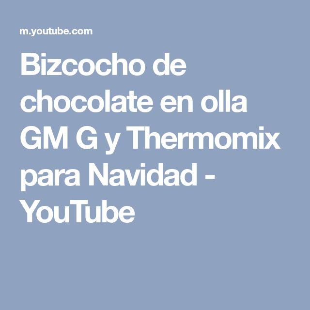 Bizcocho de chocolate en olla GM G y Thermomix para Navidad - YouTube