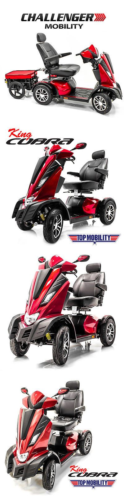 Mobility Scooter Parts: King Cobra Heavy Duty Power Electric Mobility Scooter 22 Seat + Free Trailer -> BUY IT NOW ONLY: $5249 on eBay!