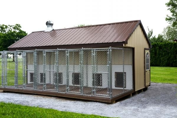 Large Dog Kennels And Dog Runs Climate Controlled Available Dog Kennel Dog Kennel Outdoor Dog Breeding Kennels