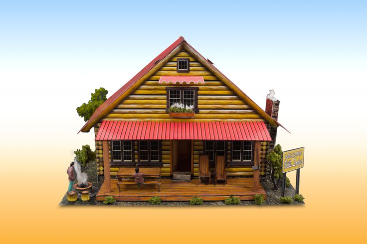 Log Cabin Photo Real Scale Building Kit Is A Complete