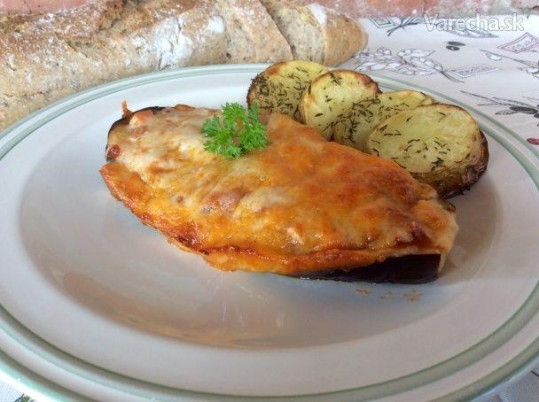 Baklažán plnený paradajkami a mozzarellou - Recept