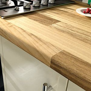 Wickes Worktop Matt Laminate Cherry Block Effect 3000 x 600 x 38 mm | Wickes.co.uk