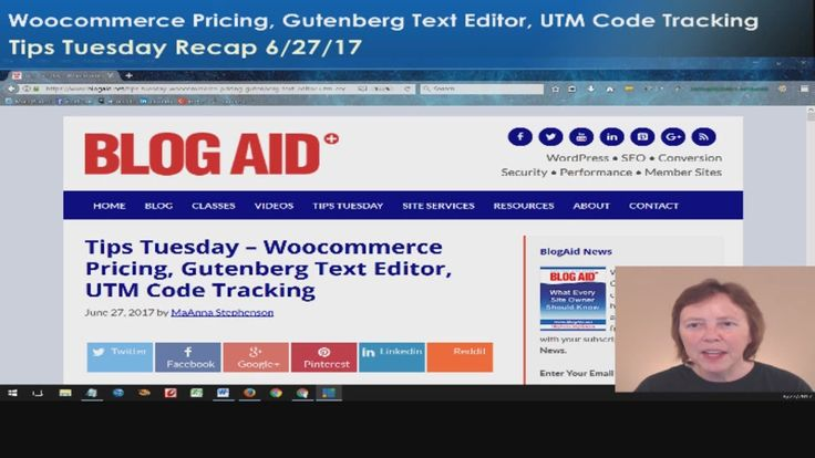 Tips Tuesday Recap – Woocommerce Pricing, Gutenberg Text Editor, UTM Cod...