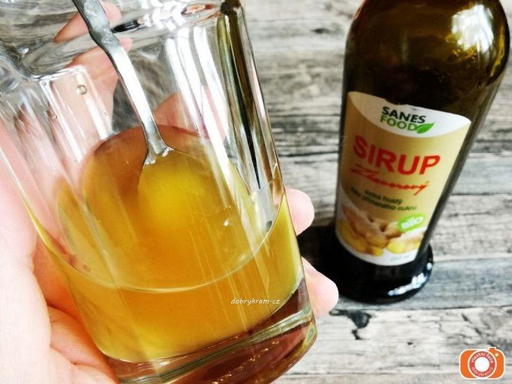 Zázvorový sirup v biokvalitě a bez přidaného řepného cukru