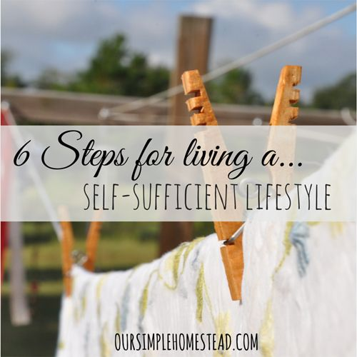 Self-Sufficient Lifestyle - Are you looking to live on less, grow your own food, conserve energy and be more self-sufficient? Maybe you are just looking for ways to simplify your life. Where ever you find yourself, there are ways you can start today. #simpleliving http://oursimplehomestead.com