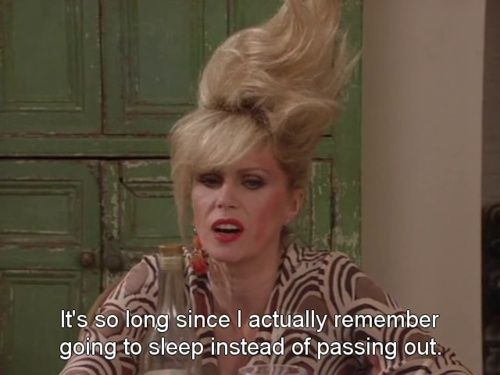 Bad hair day (from Ab Fab)