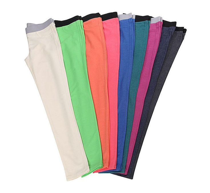 Topten10 Women's Vivid Color Cotton Blend Banding Waist Skinny Pants_10 options #Topten10 #CasualPants