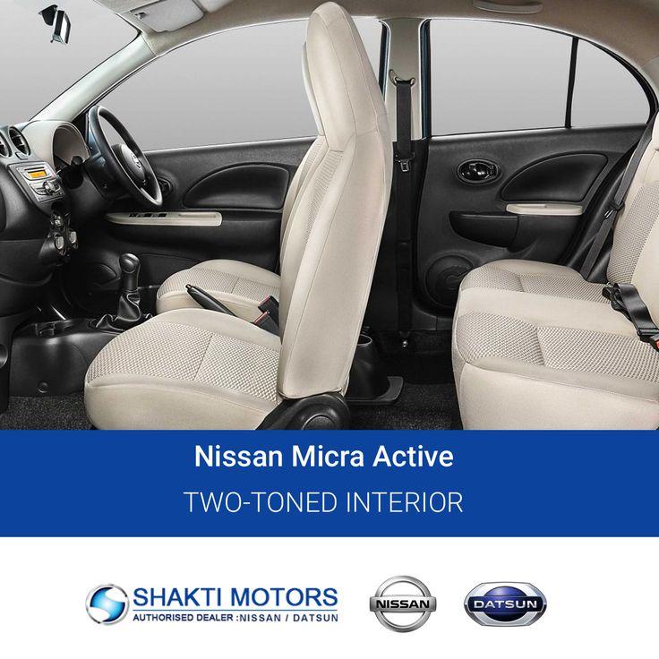 Two-Toned #Interior- #NissanMicraActive Visit us: https://goo.gl/50m975 #Active #SunnyCars #BookMyCar #MyCar #Datsun #DatsunCar #Nissan #FirstCar #Drive #Road